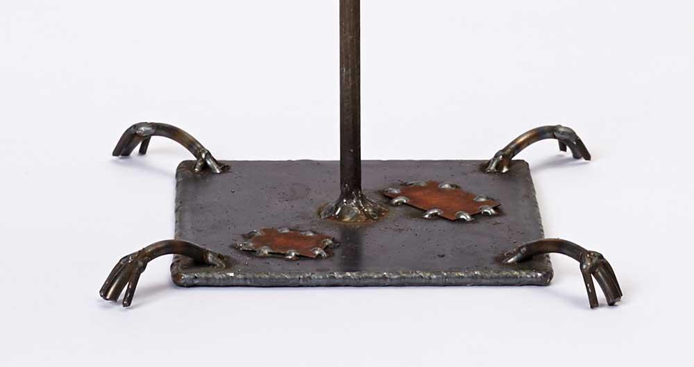 winged steel sculpture base