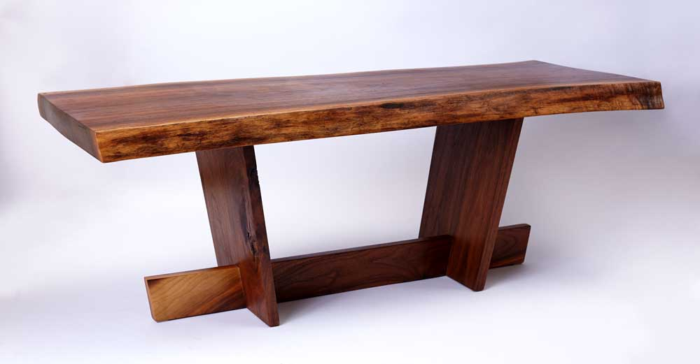 walnut coffee table/bench